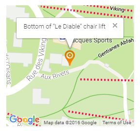 "Bottom of ""Le Diable"" chair lift"